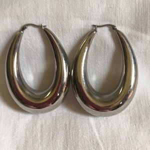 Jewelry - Large Silver Hoop Earrings